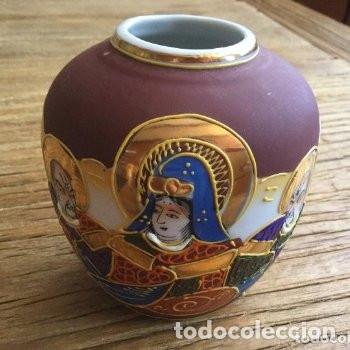 Antigüedades: Jarrón de porcelana japonesa EIHO grade A.Made in Japan - Foto 6 - 159613390