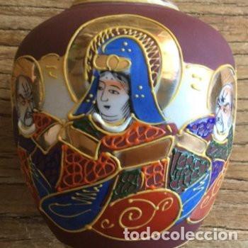 Antigüedades: Jarrón de porcelana japonesa EIHO grade A.Made in Japan - Foto 8 - 159613390