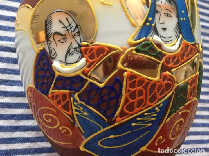 Antigüedades: Jarrón de porcelana japonesa EIHO grade A.Made in Japan - Foto 2 - 159613390