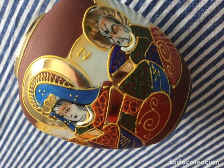 Antigüedades: Jarrón de porcelana japonesa EIHO grade A.Made in Japan - Foto 3 - 159613390