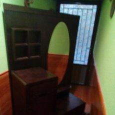Antigüedades: ENTRADA TOCADOR DE MADERA MACIZA. Lote 159809166