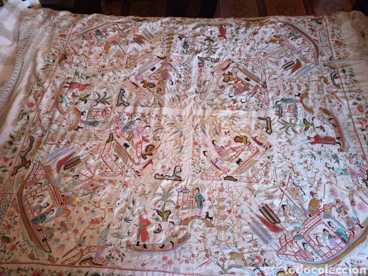 Antigüedades: Maravilloso mantón antiguo - Foto 6 - 138082622