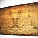 Antigüedades: TAPIZ PAISAJE CON CASTILLOS ENTRE ARBOLEDA, MOTIVO SIMÉTRICO MUY ORIGINAL.. Lote 159860502