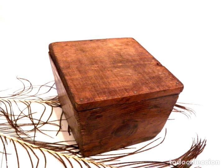 Antigüedades: Antiguo Celemín, Medida Grano, Medida Cereales - Foto 3 - 159871386