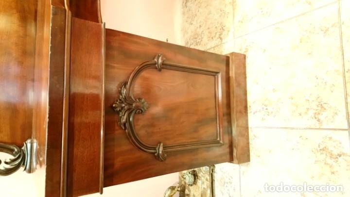 Antigüedades: Aparador inglés, Victoriano en caoba y palma de caoba. S. XIX - Foto 5 - 159874562