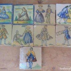 Antigüedades: NUEVE AZULEJOS. PORTUGAL O MALLORCA. Lote 159897486