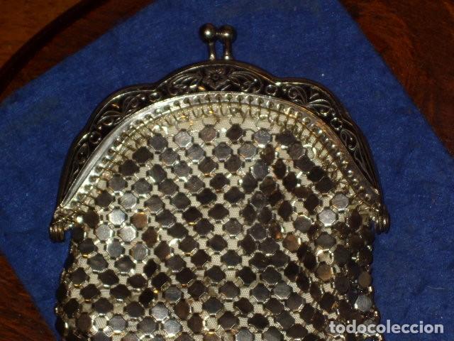 Antigüedades: MONEDERO DE MALLA 2 COMPARTIMENTOS,SIN USO. - Foto 5 - 159900542
