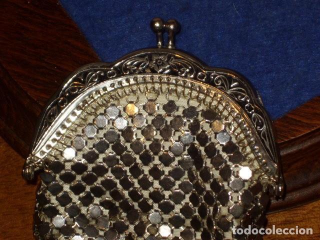 Antigüedades: MONEDERO DE MALLA 2 COMPARTIMENTOS,SIN USO. - Foto 9 - 159900542