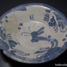 Antigüedades: PLATO DE CERÁMICA ARAGONESA DE MUEL XVIII . Lote 159902882