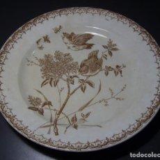 Antigüedades: PLATO CERÁMICA XIX . Lote 159903406