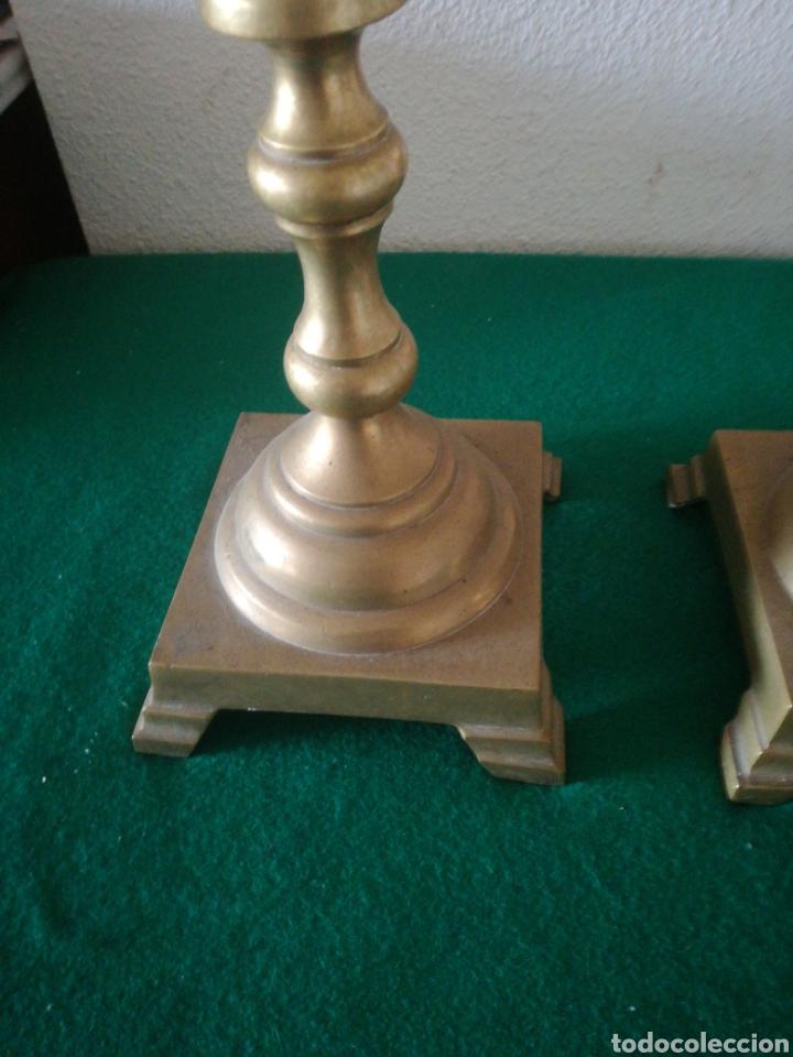 Antigüedades: PORTA VELAS DE BRONCE - Foto 2 - 159955612