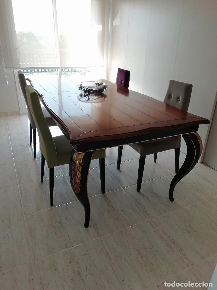 Antigüedades: Mesa madera comedor extensible. - Foto 2 - 159969318