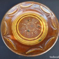 Antigüedades: ALFARERÍA CATALANA: PLATA (FUENTE) DE MATARÓ S. XIX. Lote 159993870
