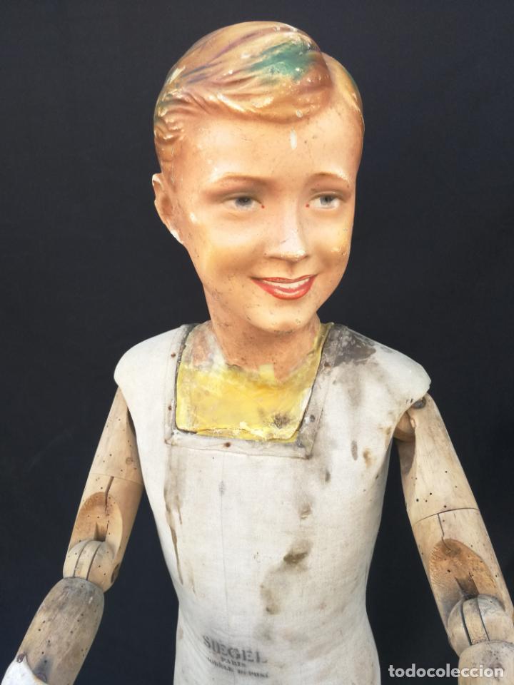 MANIQUI SIEGEL PARIS MODELE DE POSI CABEZA DE CERA (Antigüedades - Moda y Complementos - Infantil)