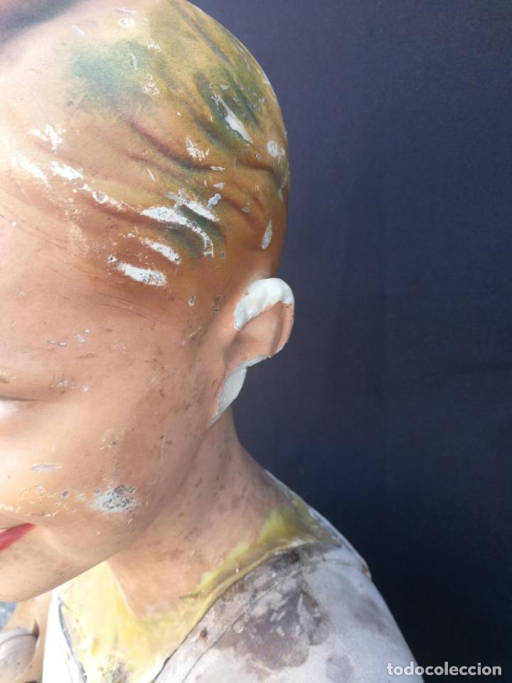 Antigüedades: Maniqui siegel paris modele de posi cabeza de cera - Foto 2 - 159997966