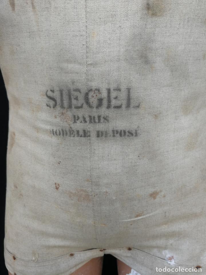 Antigüedades: Maniqui siegel paris modele de posi cabeza de cera - Foto 3 - 159997966