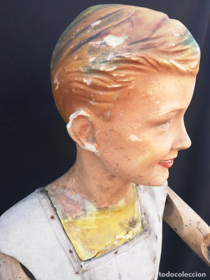 Antigüedades: Maniqui siegel paris modele de posi cabeza de cera - Foto 6 - 159997966