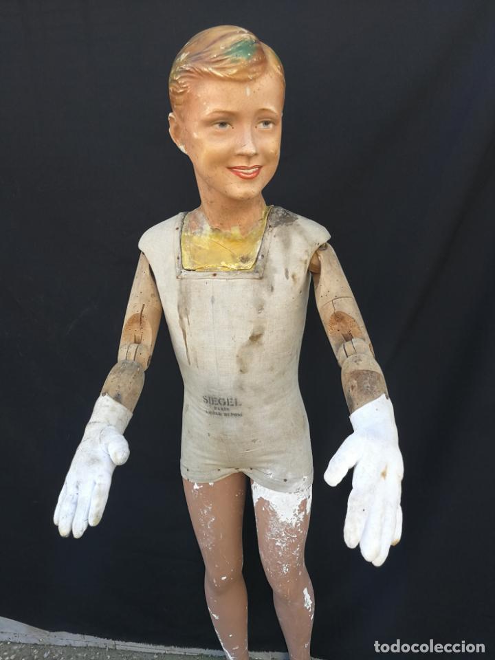 Antigüedades: Maniqui siegel paris modele de posi cabeza de cera - Foto 8 - 159997966