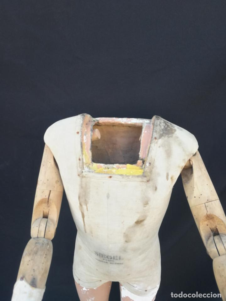 Antigüedades: Maniqui siegel paris modele de posi cabeza de cera - Foto 12 - 159997966