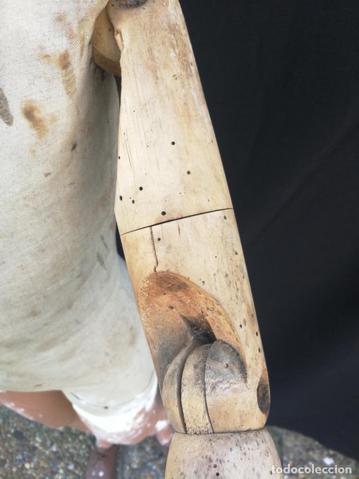 Antigüedades: Maniqui siegel paris modele de posi cabeza de cera - Foto 15 - 159997966