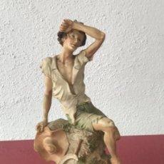 Antigüedades: FIGURA DE GIUSEPPE, ARMANI, CAPODIMONTI, ITALIA 1989'S. . Lote 160005786