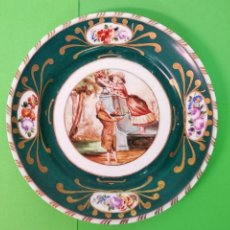 Antigüedades: PLATO DE PORCELANA SANTA CLARA. Lote 160008842