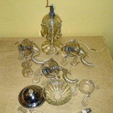 Antigüedades: LOTE REPUESTOS PARA LAMPARA DE MESA,CANDELABRO DE CRISTAL.. Lote 160014878