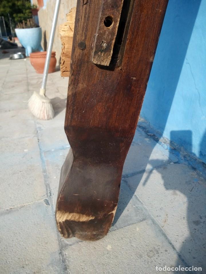 Antigüedades: lote de 2 barrotes de madera maciza de cama con dosel, siglo xix,ideal decoraciones. - Foto 10 - 160027014