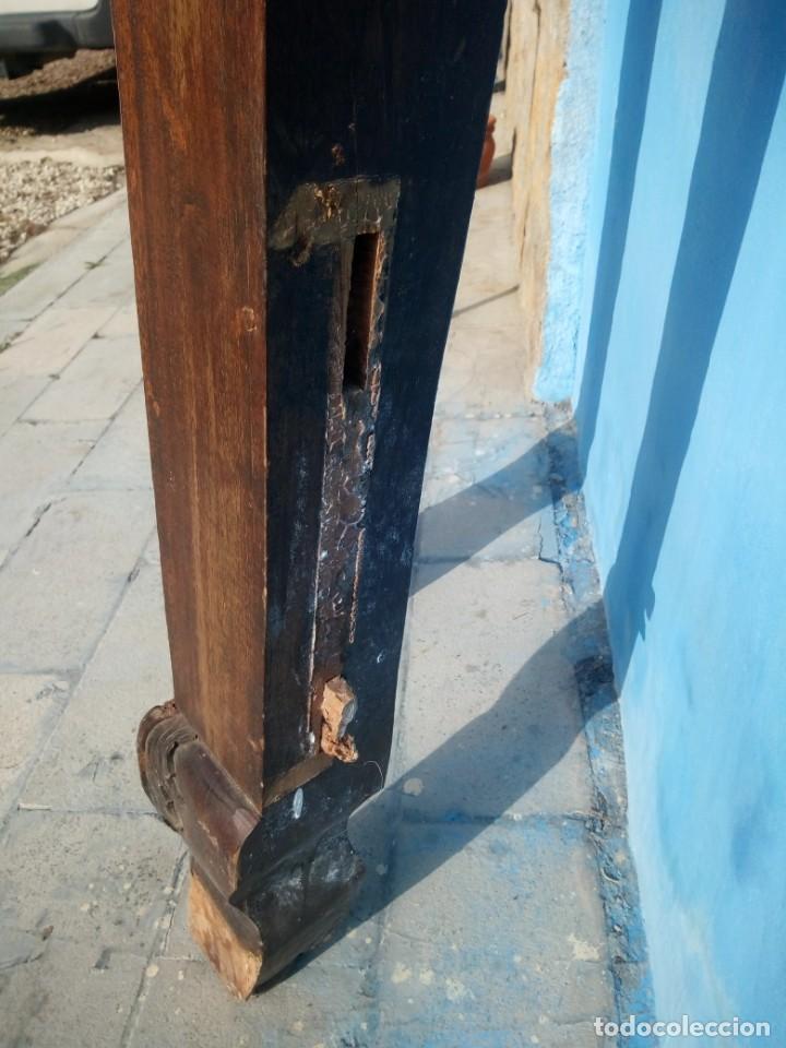 Antigüedades: lote de 2 barrotes de madera maciza de cama con dosel, siglo xix,ideal decoraciones. - Foto 13 - 160027014