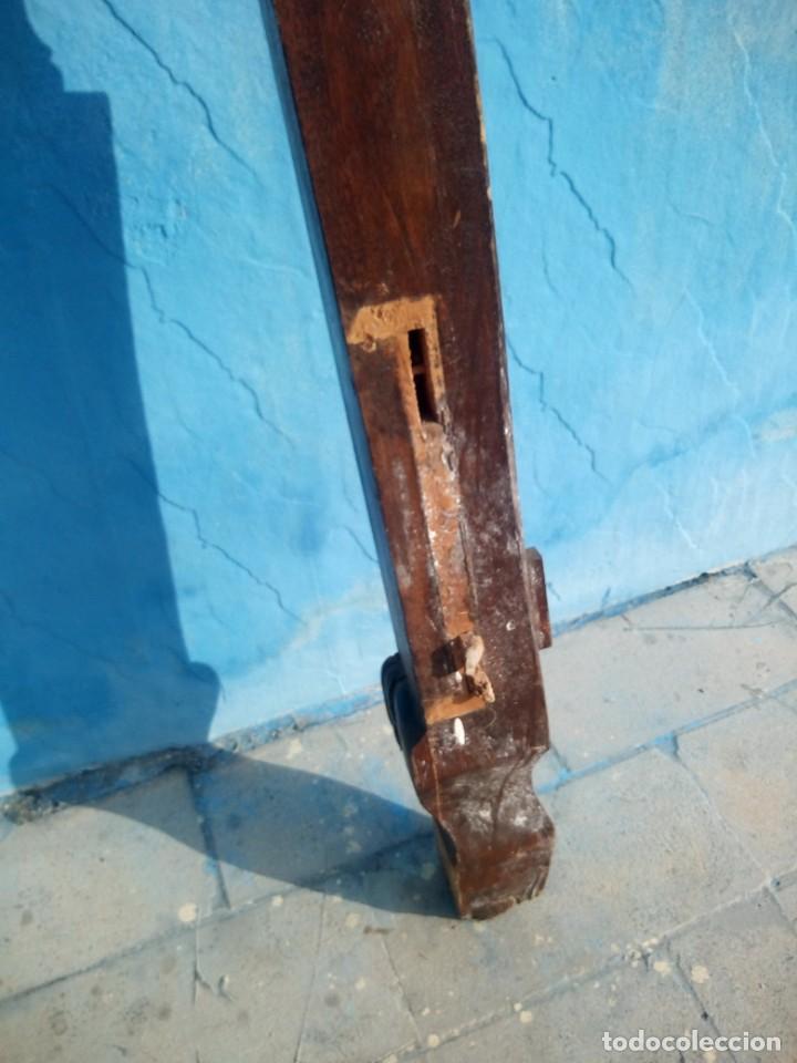 Antigüedades: lote de 2 barrotes de madera maciza de cama con dosel, siglo xix,ideal decoraciones. - Foto 15 - 160027014