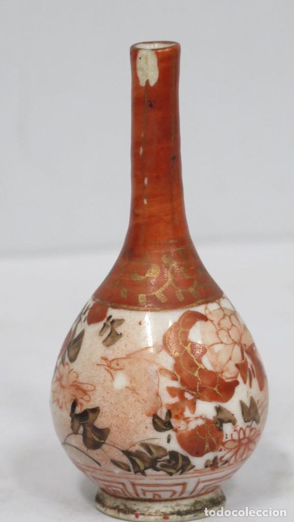 Antigüedades: PEQUEÑO JARRON DE PORCELANA. JAPON. SIGLO XIX. MARCA EN LA BASE - Foto 2 - 160032658
