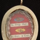 Antigüedades: RELICARIO EN CAJA DE PLATA CON RELIQUIAS DE LOS BEATOS ANGELO DE ACRI Y BERNARDO DE CORLEONE.. Lote 160046134