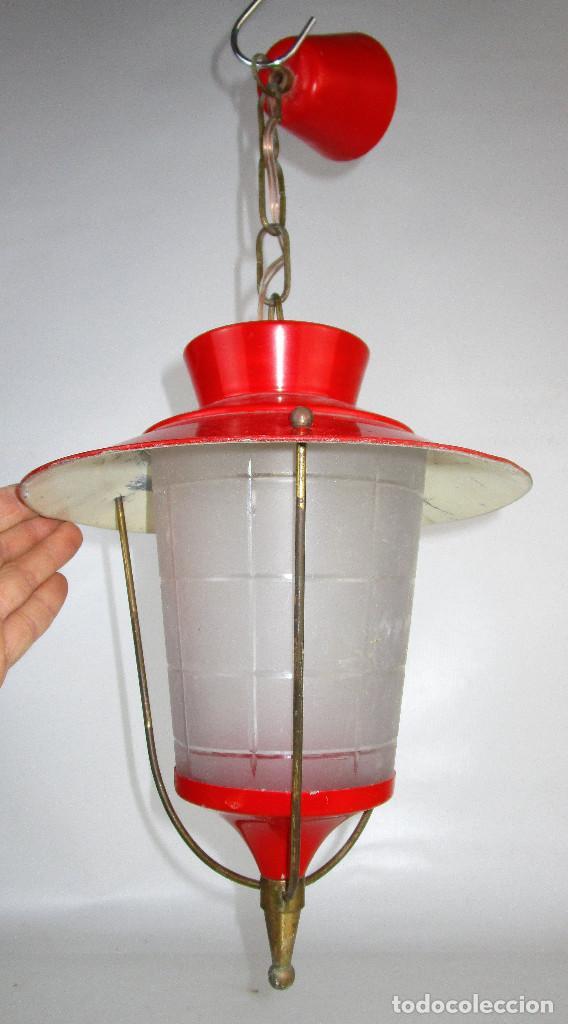 LOTE 3 LAMPARAS FAROLES ROCKABILLY MIDCENTURY VINTAGE (Antigüedades - Iluminación - Faroles Antiguos)