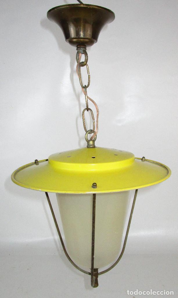 Antigüedades: LOTE 3 LAMPARAS FAROLES ROCKABILLY MIDCENTURY VINTAGE - Foto 3 - 160054070