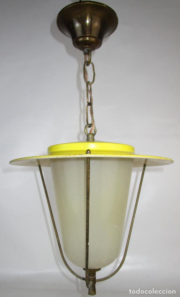 Antigüedades: LOTE 3 LAMPARAS FAROLES ROCKABILLY MIDCENTURY VINTAGE - Foto 4 - 160054070