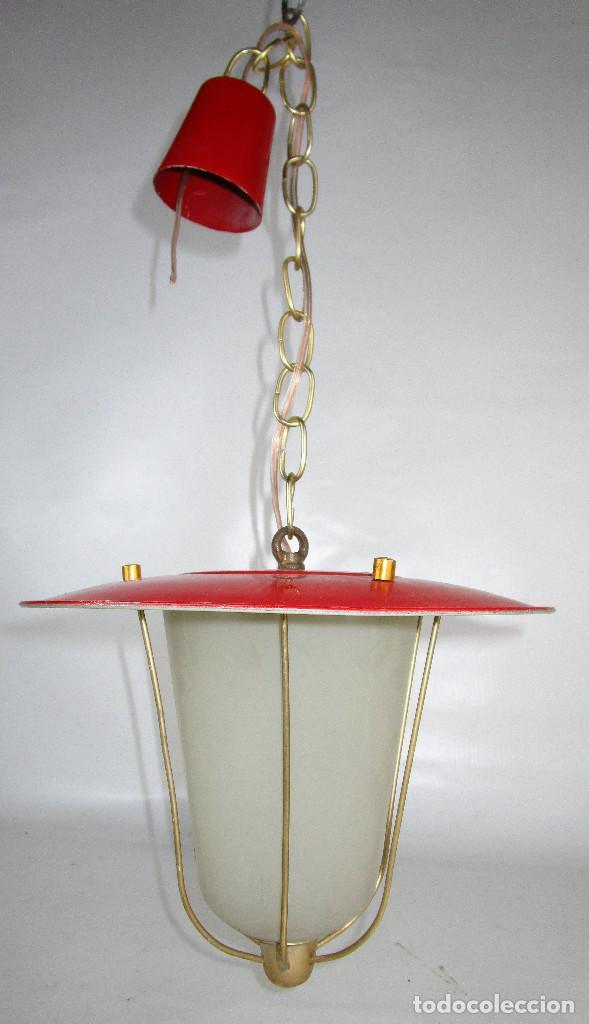 Antigüedades: LOTE 3 LAMPARAS FAROLES ROCKABILLY MIDCENTURY VINTAGE - Foto 6 - 160054070