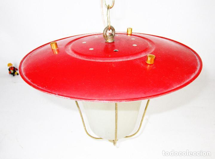 Antigüedades: LOTE 3 LAMPARAS FAROLES ROCKABILLY MIDCENTURY VINTAGE - Foto 7 - 160054070