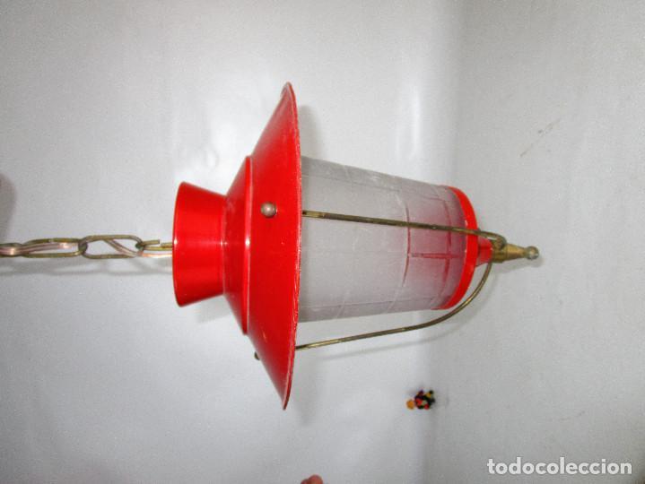 Antigüedades: LOTE 3 LAMPARAS FAROLES ROCKABILLY MIDCENTURY VINTAGE - Foto 9 - 160054070