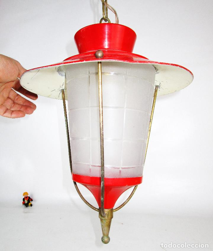 Antigüedades: LOTE 3 LAMPARAS FAROLES ROCKABILLY MIDCENTURY VINTAGE - Foto 10 - 160054070