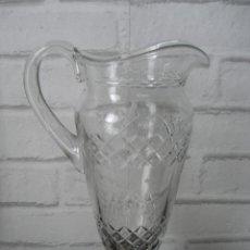 Antiquités: ANTIGUA JARRA ( 30 CM ) CRISTAL TALLADO Y GRABADO. Lote 160071674