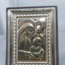 Antigüedades: IMAGEN RELIGIOSA FABRICADA EN COLAMINA MEDIDAS 8X6 CM.. Lote 160091758
