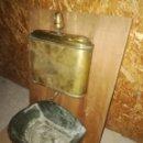 Antigüedades: PALANCANERO DE LATÓN. Lote 160093897