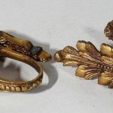 Antigüedades: PAREJA DE ALZAPAÑOS DE BRONCE. Lote 160174546