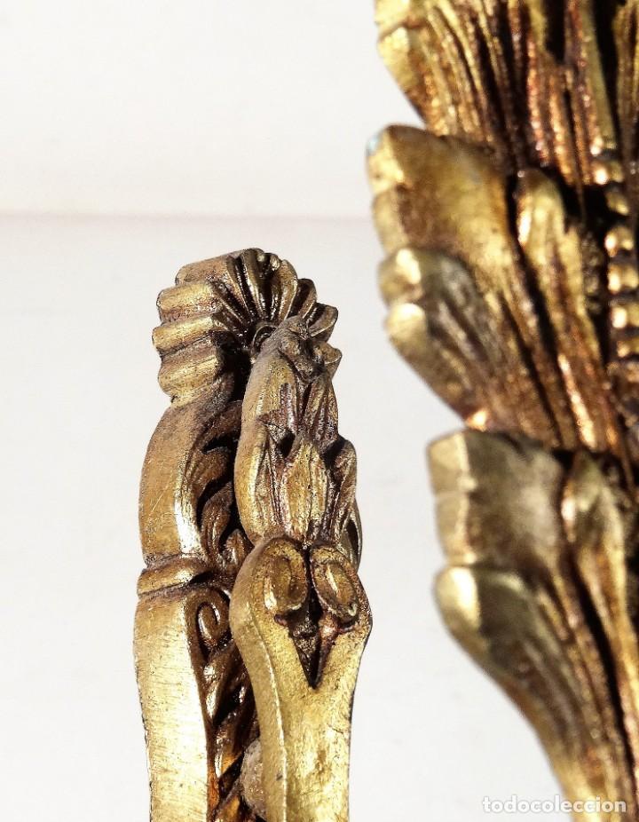 Antigüedades: PAREJA DE ALZAPAÑOS DE BRONCE - Foto 3 - 160174546