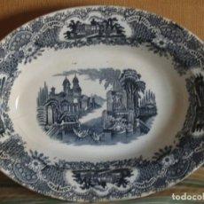 Antigüedades: FUENTE OVALADA GRANDE DE PICKMAN S.A. SEVILLA CARTUJA. Lote 160181902