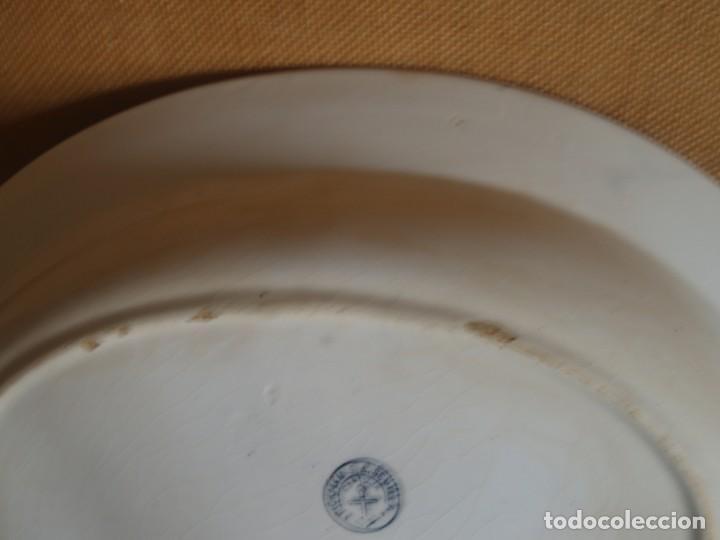Antigüedades: FUENTE OVALADA GRANDE DE PICKMAN S.A. SEVILLA CARTUJA - Foto 8 - 160181902