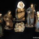 Antigüedades: BELÉN O NACIMIENTO DE GRAN TAMAÑO DE ESTILO NAPOLITANO, ELABORADO EN RESINA Y TELAS ENVEJECIDAS. . Lote 160184582