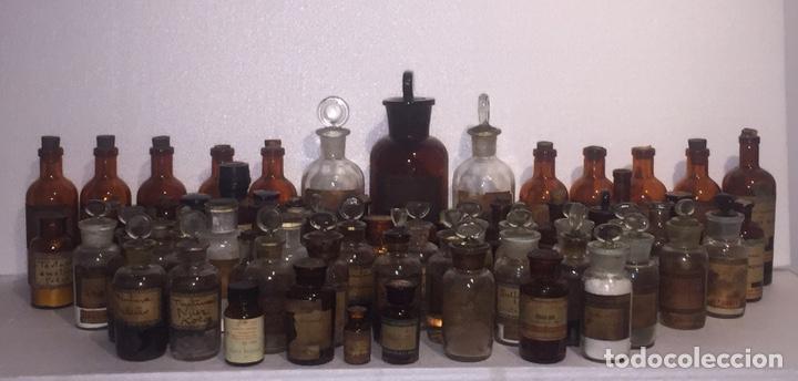 Antigüedades: Colección antiguas 68 botellas de laboratorio - Foto 2 - 160184764