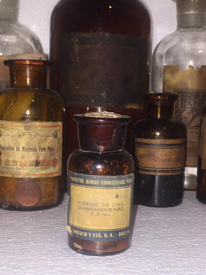 Antigüedades: Colección antiguas 68 botellas de laboratorio - Foto 70 - 160184764