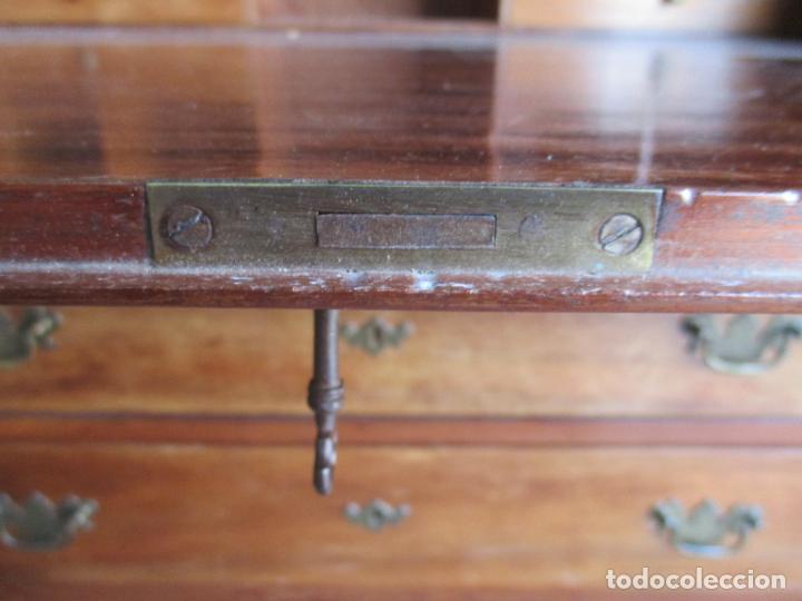 Antigüedades: Canterano, Escritorio Pequeño - Madera de Caoba - 89 cm Ancho, 47 cm Fondo, 97 cm Altura - Foto 14 - 160225358